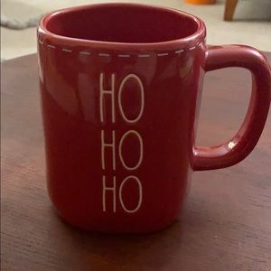 Rae Dunn Red HO HO HO Laced Mug